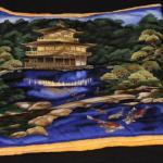Rechteck Decke mit asiatischem Tempelmotiv