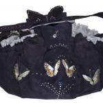 Papillon d'amour - Wildleder in Nachtblau -